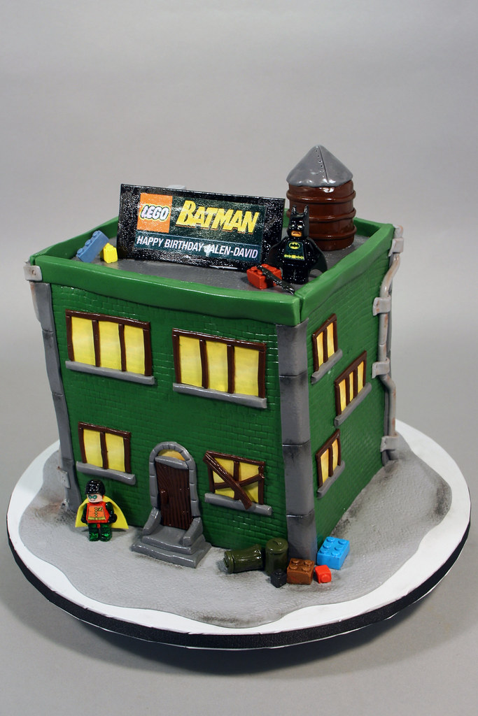 Cool Lego Batman Birthday Cake Decorated In Fondant Gum Paste Flickr Personalised Birthday Cards Akebfashionlily Jamesorg