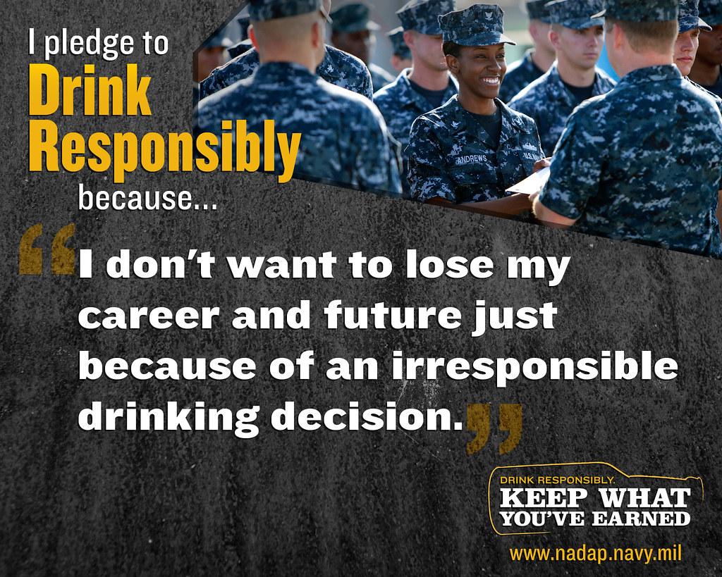 Why do I pledge to drink responsibly? My career  | I pledge