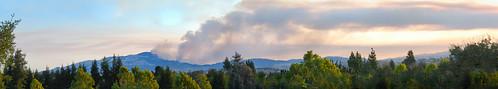 california park summer color sunrise fire nikon sanramon smoke large panoramic september burning burn eastbay forestfire d200 mtdiablo northern stitched slope 2013 morganhillfire