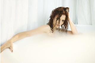 Lara Jean In The Tub 2   Actress LARA JEAN CHOROSTECKI