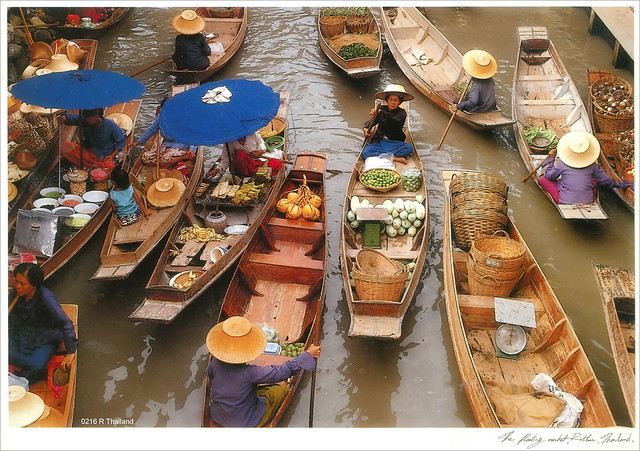 Thailand.  Ratchaburi. The floating market.