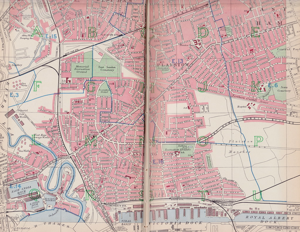 East London Uk Map.Street Plan Of Plaistow And Canning Town East London Uk Flickr