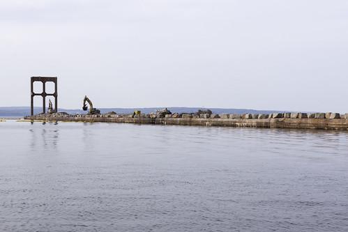 lake dock demolition ore ashland wi demolished oredock suoerior