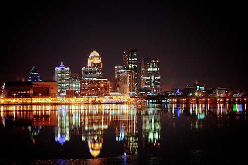 city ohio reflection ice water architecture night river lights long exposure kentucky ky louisville 500px ifttt