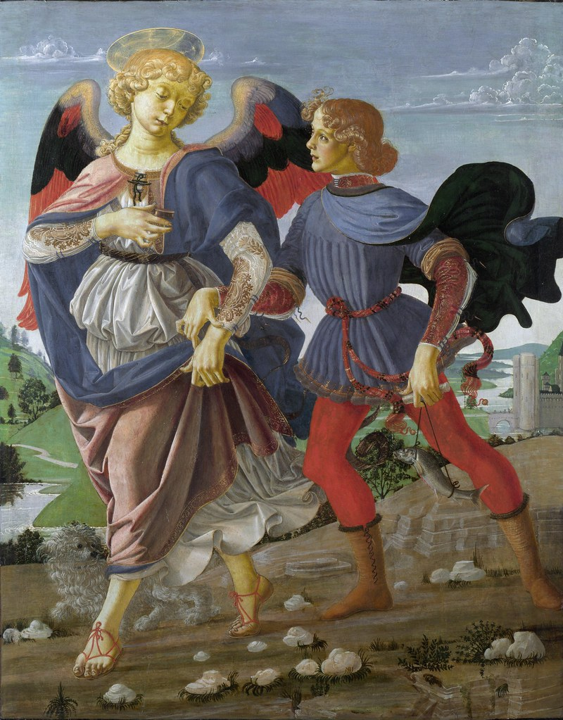 Andrea del Verroccio, Tobias and the Angel. c.1470-1475.