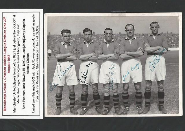 Manchester United v Charlton Athletic Season 1947-1948