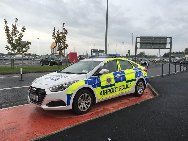 Hyundai Police Car - Airport Police - Shannon Airport, Ireland.