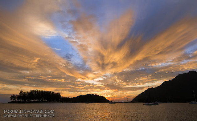 Sunset at Telega harbour, Langkawi island