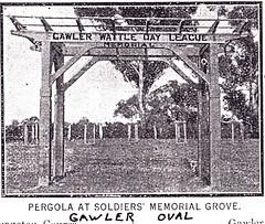 Gawler Wattle day League - Soldiers' Memorial Pergola