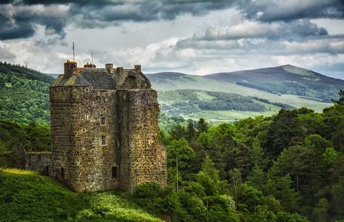 castle landscape scotland peebles borders