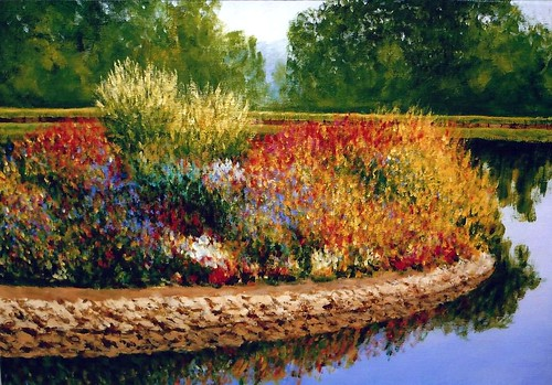Paintings by Pete Jendro, Minnesota Artist - Flower Island, Acrylic on Canvas, 16 x 20 Inches | by France1978