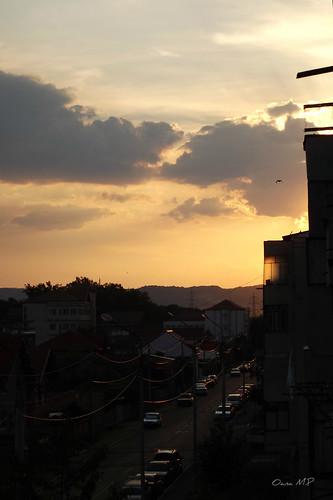 city urban sun sunrise fujifilm buidings