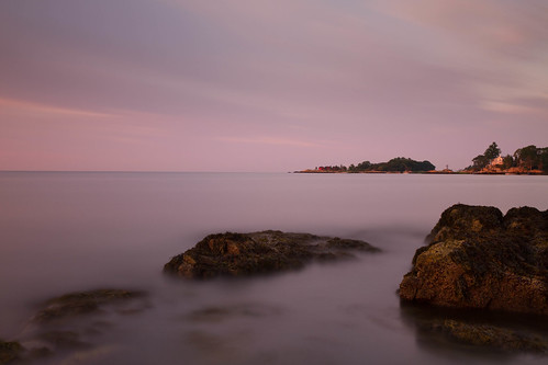 ocean longexposure morning sea sky seascape sunrise landscape dawn rocks connecticut le branford longislandsound shortbeach bw110nd30