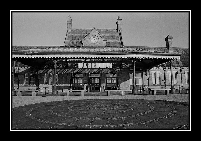 The Platform Morecambe formerly Morecambe Railway Station : Agfapan 100 B&W film :