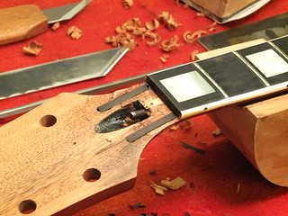 Ebony insert cut back | by grahamparkerluthier