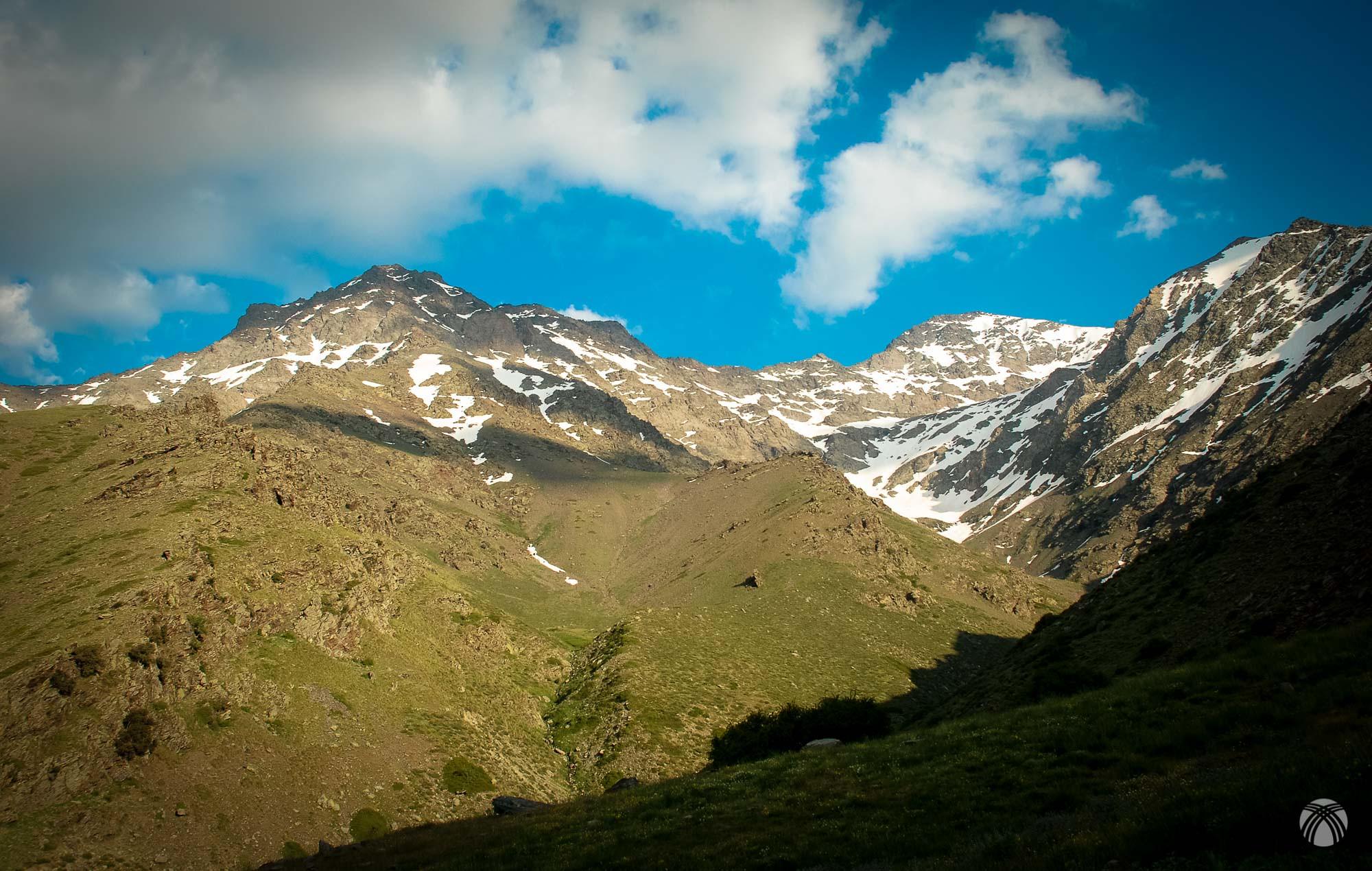 Desde nuestro campamento así se ve la montaña