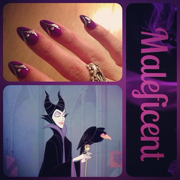 Maleficent Inspired Nails Disneybound Marie Flickr