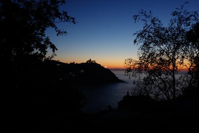 Sun goes down