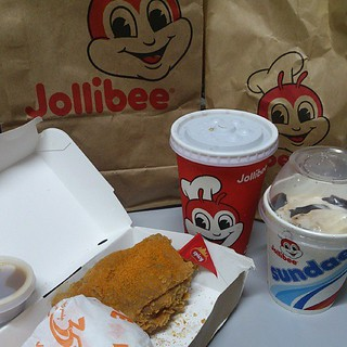 This are the yummy food that I ordered from Jollibee delivery! Hot and spicy Chickenjoy with rice, Choco sundae and soda! Chow time! Don't forget to try our very own proudly Filipino made food! FOLLOW us at @govisitphilippines as we take you to our DINING | by Renzelle Mae Abasolo