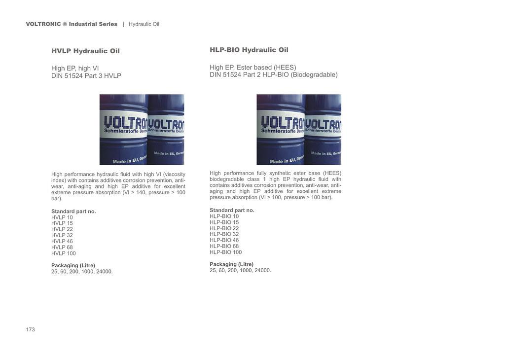 p 173 Industrial Series - Hydraulic Oil - HVLP - HLP-BIO