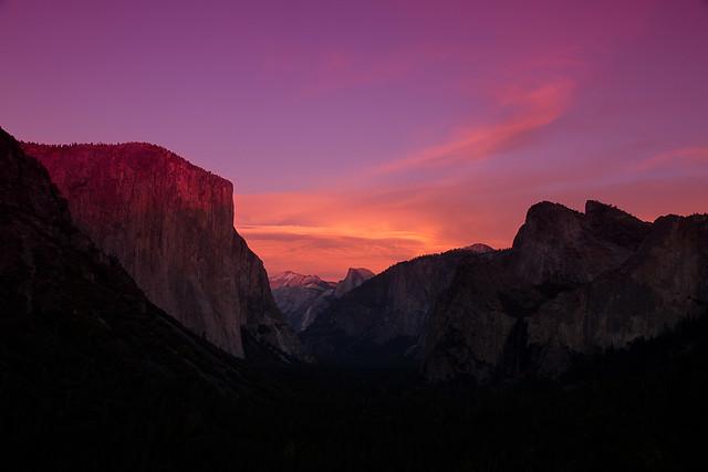 Candy Sky Over Yosemite