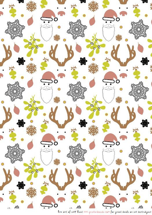 image about Printable Christmas Wrapping Paper titled Printable Xmas wrapping paper Print this Xmas-th