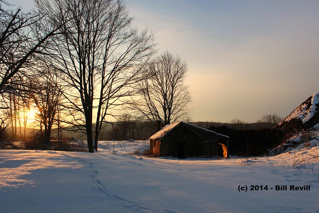 Winter sunset - Middletown CT