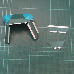วิธีทำโมเดลกระดาษตุ้กตาคุกกี้รัน คุกกี้รสสตอเบอรี่ (LINE Cookie Run Strawberry Cookie Papercraft Model) 026
