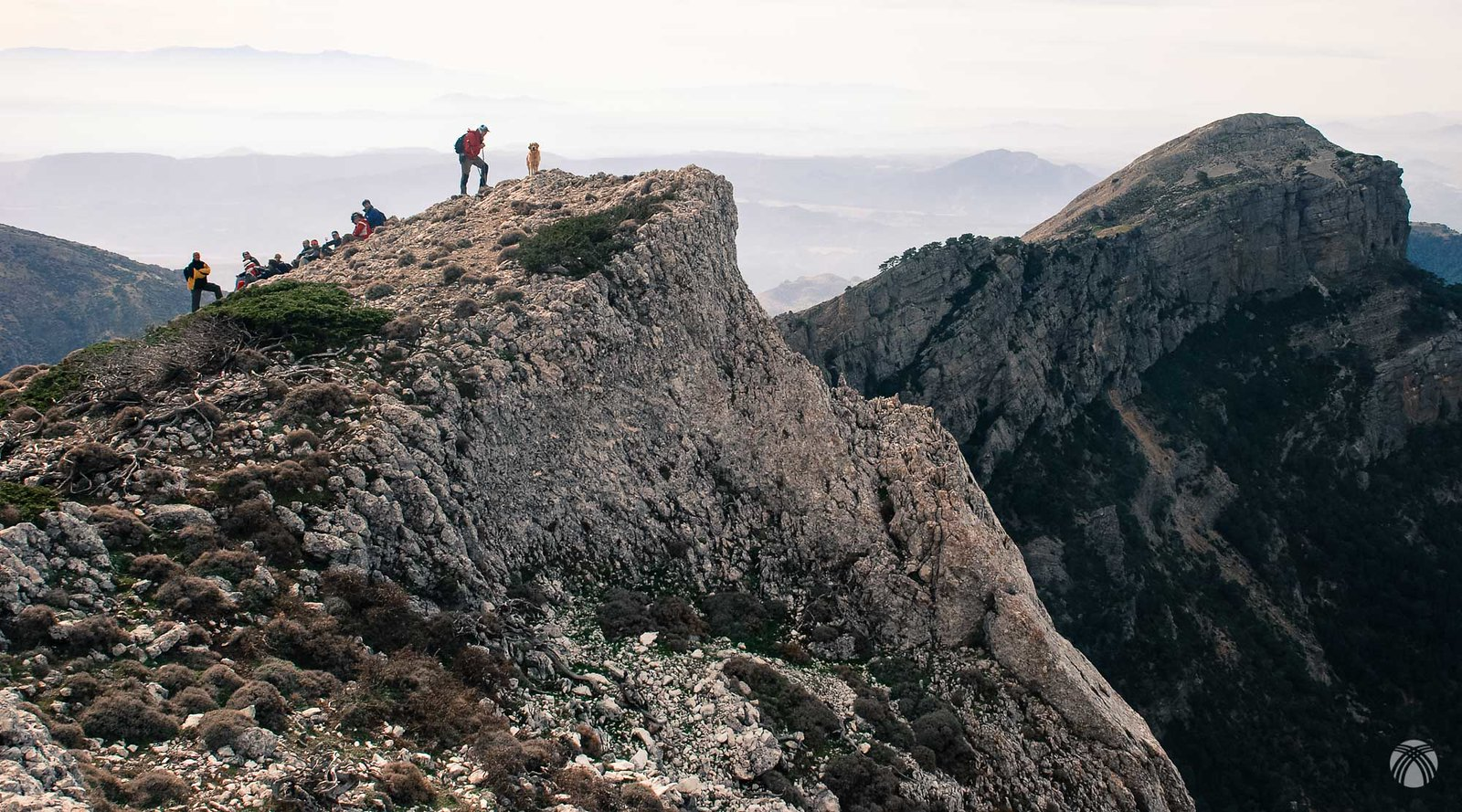 Mirando la tercera cumbre. el Rayal