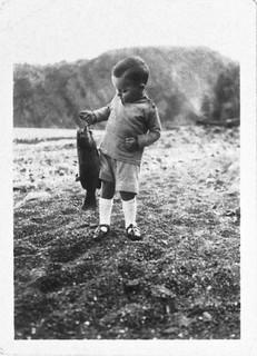 Early Photo of Boy with Bass - Bon Echo Inn   by CDHS
