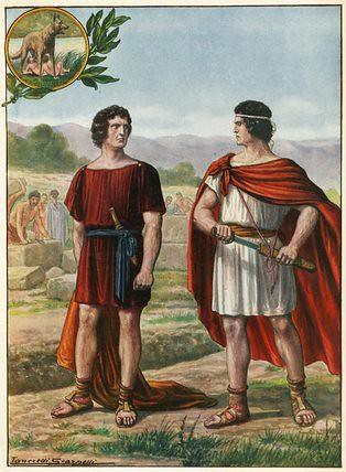+1900 Enfrentamiento de Rómulo y Remo