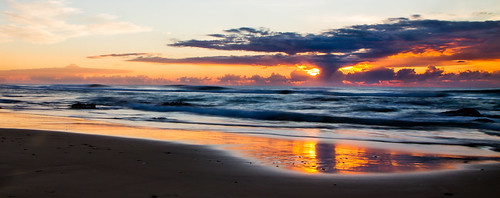 beach sunrise australia northcoast