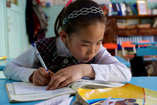 Young girl studying | by World Bank Photo Collection