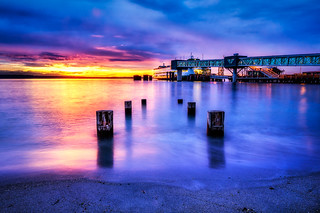 Edmonds Ferry at Sunset by Michael Matti | by Michael Matti