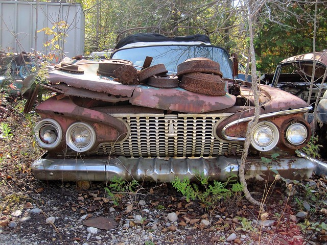 1961 Plymouth Fury wreck