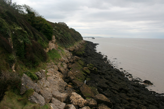 The coast between Clevedon and Portishead