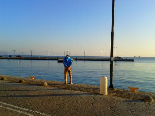 morning autumn sea water weather sunrise island harbor sunny kos clear greece