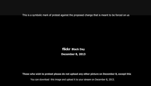 December 8th 2013. Flick Black day. 8 décembre 2013 Journée de protestation contre la Beta page de Flick R. 8 dhjetori, dita proteste kundër faqes Beta të Flick. 8 de diciembre, dia de protesta contra la pàgina Beta de Flick.