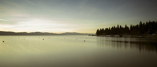 morning lake sunrise long exposure tahoe