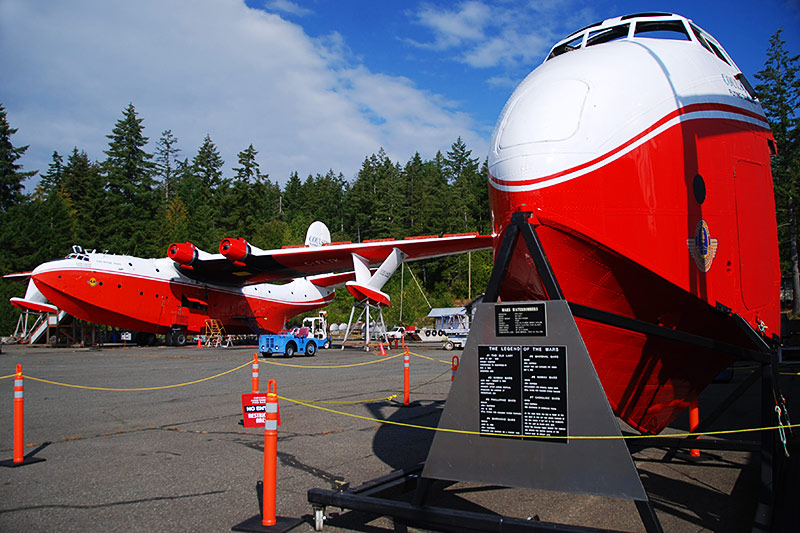 Martin Mars Water Bombers based at Sproat Lake, Vancouver Island, British Columbia, Canada