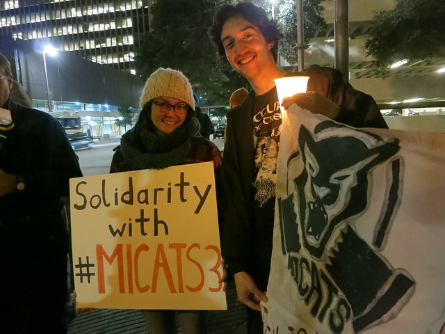 Kim and Perry show solidarity with #MICATS3