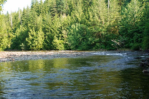 Marble River Provincial Park, Rupert Inlet, Vancouver Island, British Columbia, Canada
