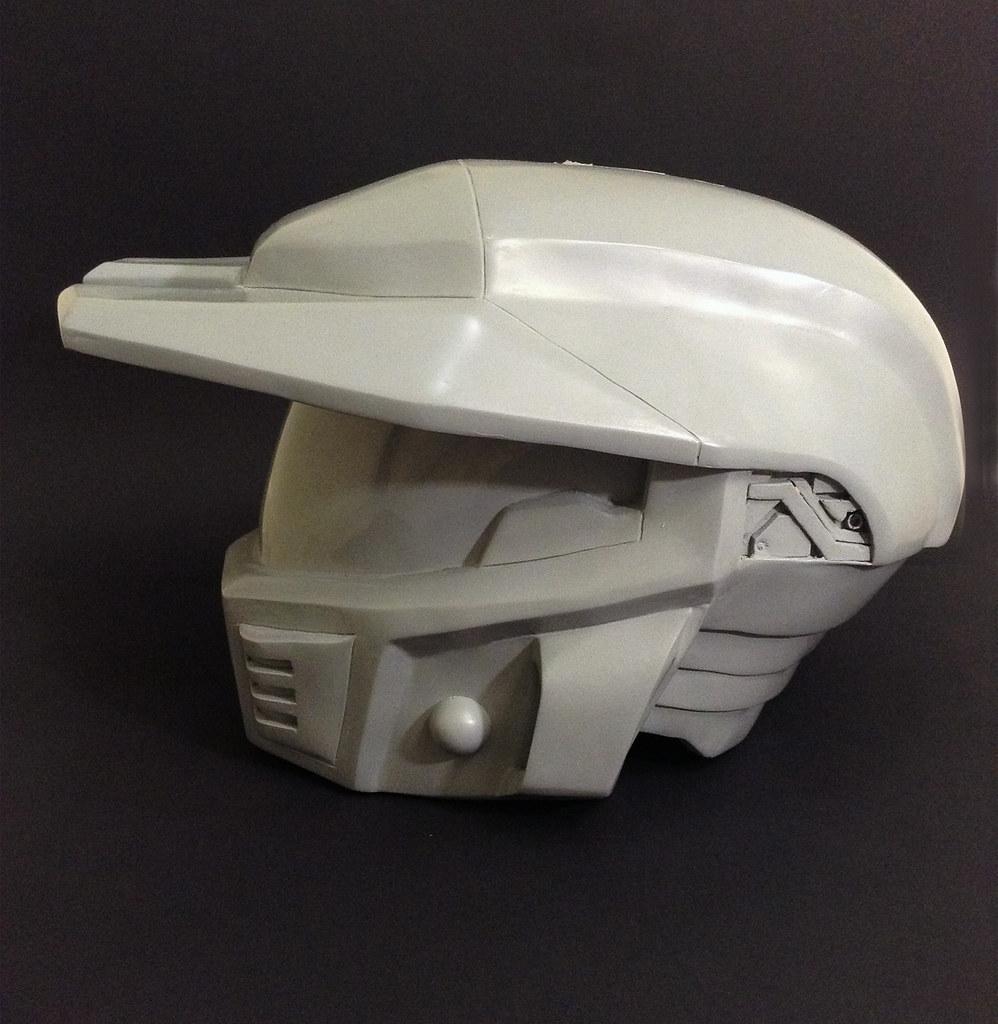 H4 Mark V Raw Cast | Raw cast of the Halo 4 Mark V helmet