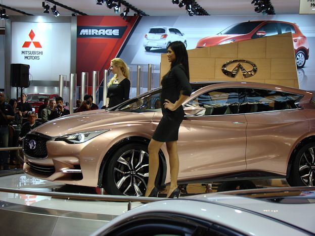 Models with Infiniti Q30 Concept
