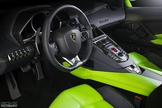 Verde Ithaca Lamborghini Aventador Roadster Interior Flickr