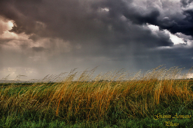 Nuvoloni, pioggia e vento