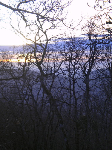 sunset hiver winter