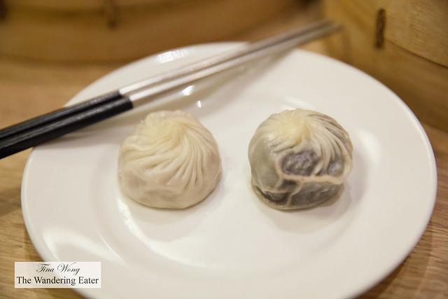 """Steamed taro root """"dumpling"""" and steamed red bean """"dumpling"""""""