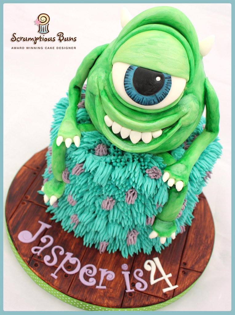 Surprising Monsters Inc Birthday Cake 6 Chocolate Fudge Layer Cake F Flickr Personalised Birthday Cards Veneteletsinfo