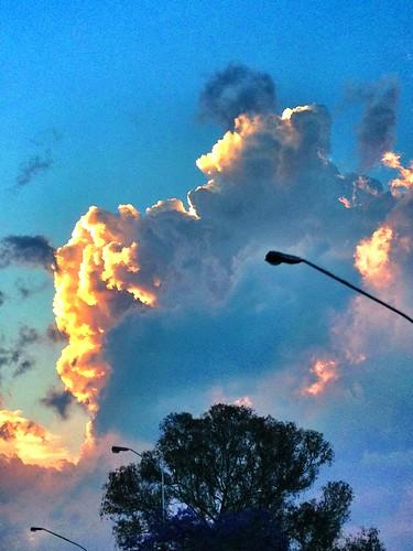 sunset clouds southafrica pretoria thunderclouds gauteng 2013 lynnparkslaghuis